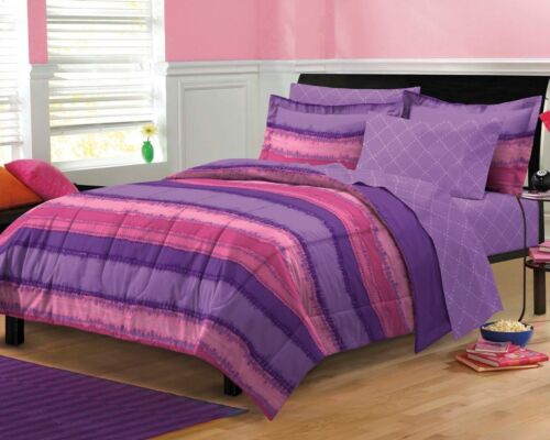 Details about NEW Tie Dye Purple Pink Teen Girls Bedding Comforter ...