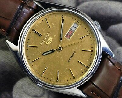 SEIKO 5 AUTOMATIC CAL.7009 MEN'S JAPAN REFURBISHED USED OLD VINTAGE WATCH 581509