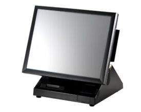 "Fast 15"" Bright screen epos system 1.5ghz 2gb with customer display and card swipe"