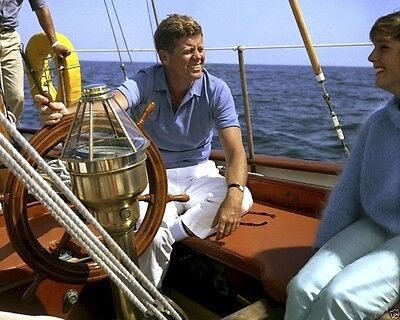 President John F. Kennedy sails aboard yacht Manitou 1962 New 8x10 Photo