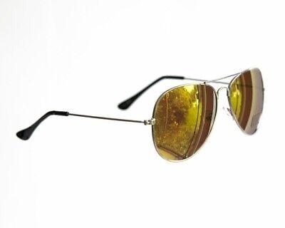 Sonnenbrillen Mode 80er Jahre Retro Stystil Designer Farben Herren Damen Gold
