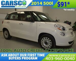 2014 Fiat 500 $0 DOWN BI WEEKLY PAYMENTS $91
