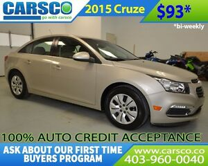 2015 Chevrolet Cruze $0 DOWN BI WEEKLY PAYMENTS $93