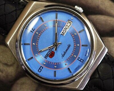 SEIKO 5 AUTOMATIC CAL.6309 MEN'S JAPAN REFURBISHED USED OLD VINTAGE WATCH 932010
