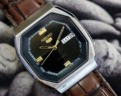 SEIKO 5 AUTOMATIC CAL.6309 MEN'S JAPAN REFURBISHED USED OLD VINTAGE WATCH 060120