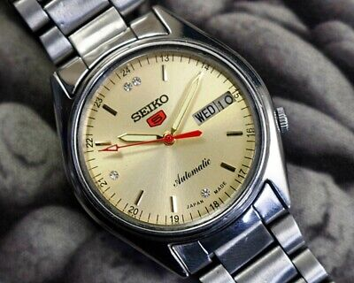 SEIKO 5 AUTOMATIC CAL.7019 MEN'S JAPAN REFURBISHED USED OLD VINTAGE WATCH 182907