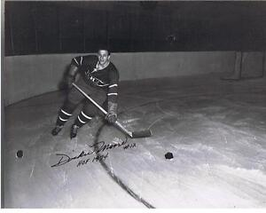 DICKIE MOORE INDUCTED HHOF AUTOG PHOTO & HWL PLAYED MONTREAL London Ontario image 2