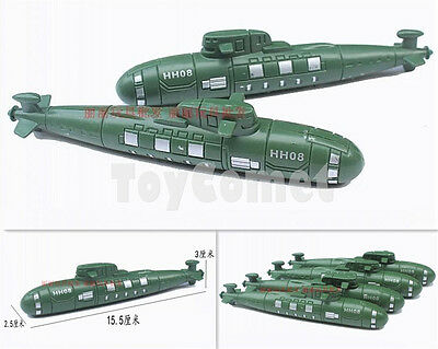 2 pcs Military Submarine Navy Ship Models Toy Soldier Army Men Accessories