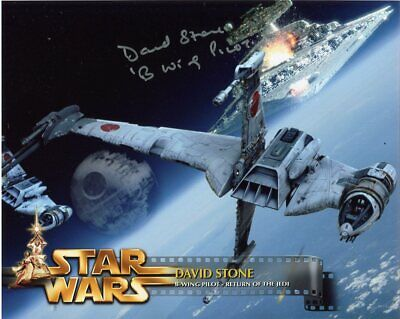 David Stone In Person Signed Photo - Star Wars: Return Of The Jedi - F598