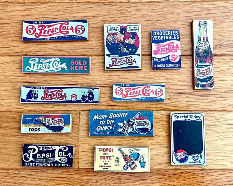 Rare Vintage PEPSI-COLA Soda Advertising Magnet Lot of 12 ~ New