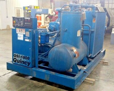 Quincy Qsi-1000 200 Hp Screw Air Compressor 1000 Cfm125 Psi Air Cooled