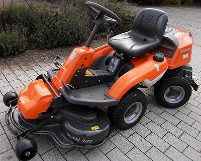 Husqvarna Rider R 320 Awd Allrad-mäher Inklusive 103cm Combi-mähdeckl !!! Aufsitzmäher