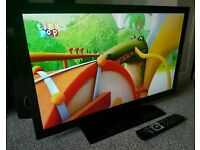"BUSH 32"" Slim FULL HD INTERNET LED TV WITH FREEVIEW HD. REMOTE CONTROL NEW CONDITION"