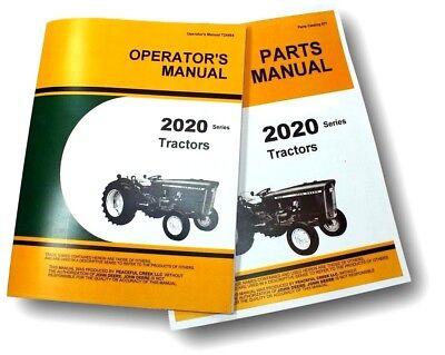 Operators Parts Manual Set For John Deere 2020 Tractor Owner Catalog