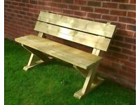 2 seater ashcome bench treated