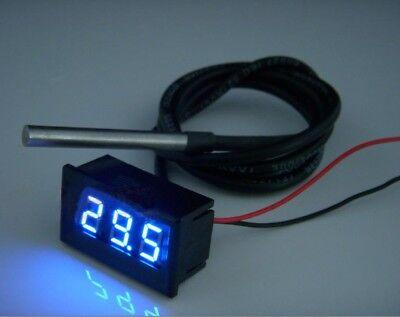 0.36inch Digital Thermometer Led Display Ntc Metal Waterproof Temperature Sensor