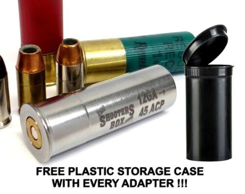 12GA to 45 ACP Shotgun Adapter - Chamber Reducer - Stainless - Free Case & Ship!