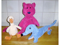 Jellycat Cordy Roy Cat, Dog and Duck.