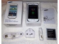 Samsung Galaxy S3 Mini in box with all accessories SIM FREE UNLOCKED