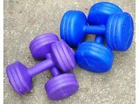 Two Sets of Dumbells - 2 x 3 kg, 2 x 5 kg