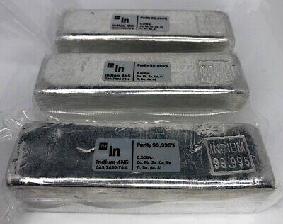 1 kg Indium Metall Barren 99.995% 4N5 Hohe Reinheit