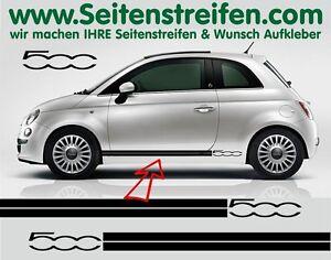Fiat 500 Seitenstreifen Aufkleber Dekor Set Version N°3 Art. Nr.: 7685