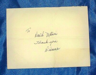 Dionne Warwick Autograph Signed Envelope
