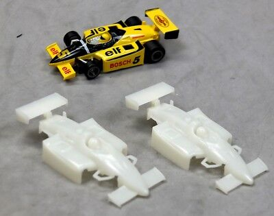 Car Parts - HO Slot Car Parts Lot - Life Like Indy / F-1 UNPAINTED Bodies - 2 EA - New