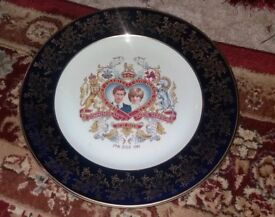 Prince Charles and Lady Diana Commemorate Plate and King Edward VIII 1937 Coronation Dish