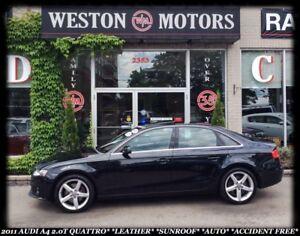 2011 Audi 2.0T QUATTRO 2.0T PREMIUM*A4*QUATTRO*LEATHER*SUNROOF*A