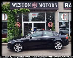 2011 Audi 2.0T QUATTRO 2.0T PREMIUM*A4*QUATTRO*LEATHER*SUNROOF*A