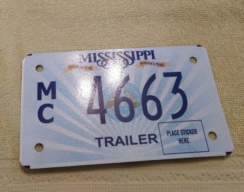 2015 Mississippi Trailer License Plate (4663)