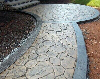 Big Flower Rubber Concrete Stamps Stone Texture Mats Imprint Printing Cement