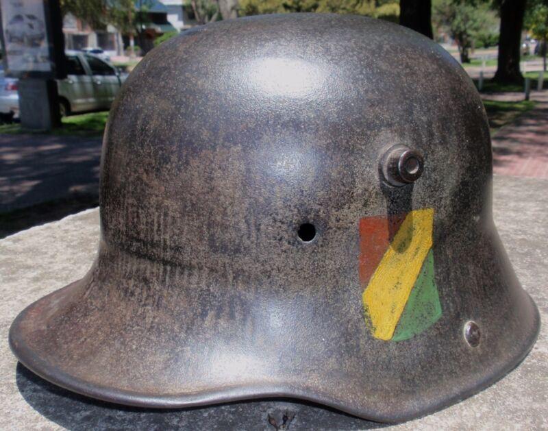 WW I GERMAN Mo 16 BOLIVIAN ARMY STAFF EXPERIMENTAL HELMET / DECAL 1920-30 RARE