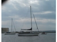 Sail cruiser 18 feet, Seafarer, moored Poole