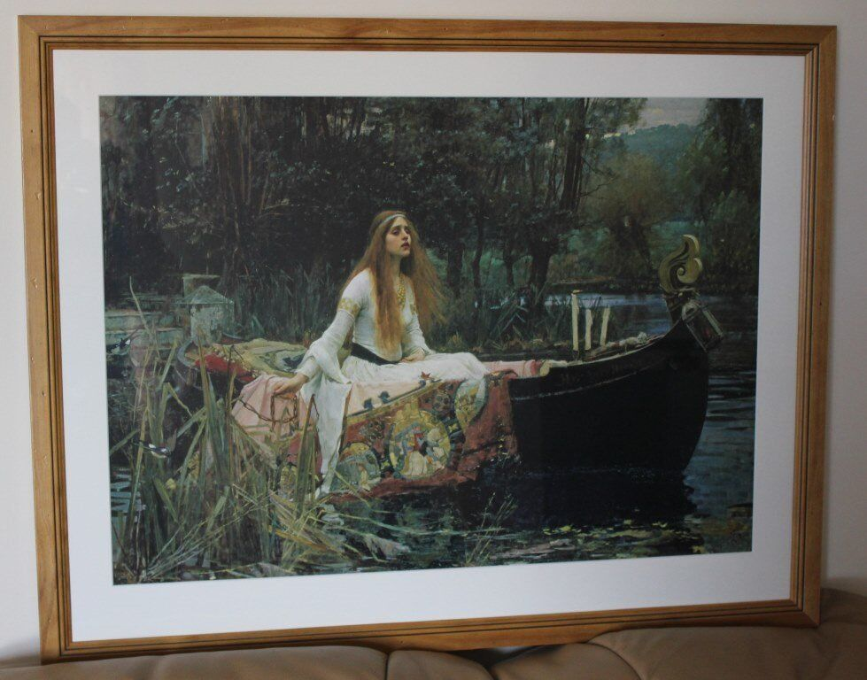 The Lady of Shalott by John William Waterhouse Professionally Crafted Art Print. Home Clearance Sale