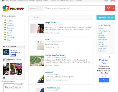 Local Classified Ads Website - Free Install Hosting