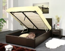 --PAY AFTER DELIVERY -- FAUX LEATHER BED FRAME WITH MATTRESS SINGLE/DOUBLE