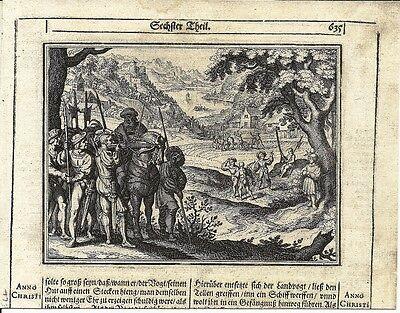 Antique engraving, Legend of William Tell