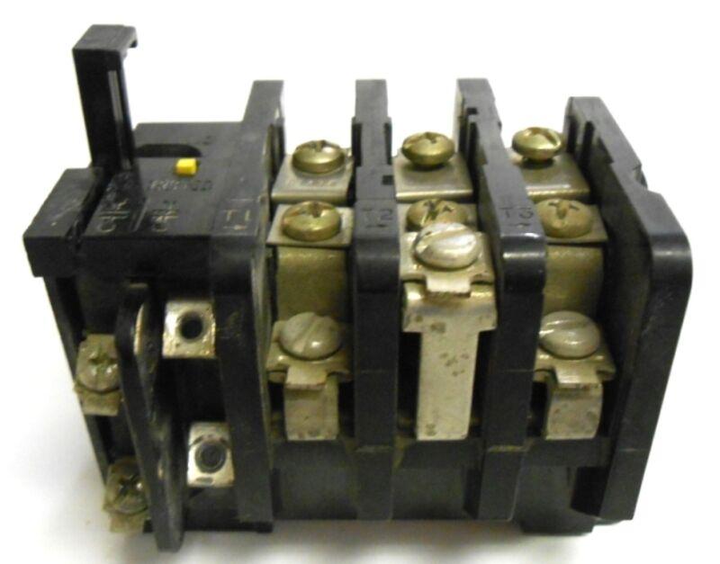 GENERAL ELECTRIC OVERLOAD RELAY, NEMA B600
