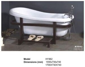 """Beautiful and unique """"claw foot"""" tub."""