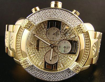 Mens Aqua Master Jojo Jojino Joe Rodeo Yellow Metal Band 45Mm Diamond Watch W 96