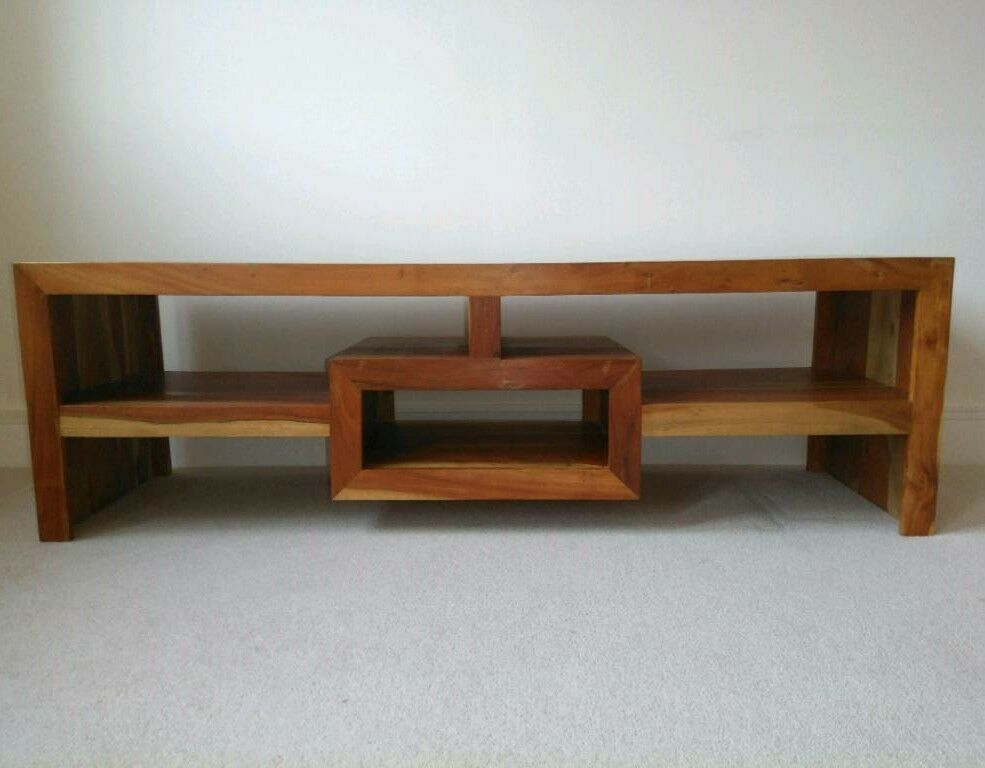 TV/media unit or stand. Solid wood.