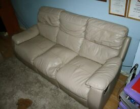 2 faux leather manual reclining sofas