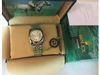 Men's Rolex Oyster Datejust Perpetual Automatic Watch, golden dial