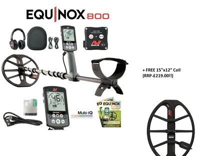 """NEW Minelab Equinox 800 Metal Detector + Free 15 """"x 12"""" Coil - DETECNICKS LTD"""