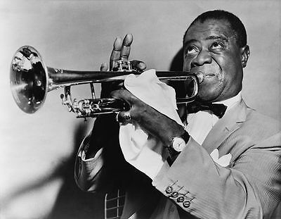 Louis Armstrong Jazz Trumpet Player Glossy Photo Music Print Poster A4