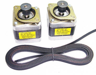 2 X Nema 17 Stepper Motors 2m Gt2 Belt Reprap Makerbot Prusa Mendel 3d Printer
