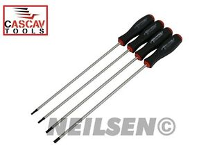 4PC EXTRA LONG STAR TORX  SCREWDRIVER SET PROFESSIONAL  T15 T20 T25  T30X250MM
