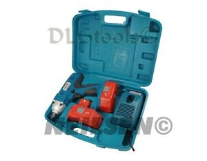 High Torque New Model 24V Cordless Impact Gun Wrench 2 x Batterys Twin 1/2